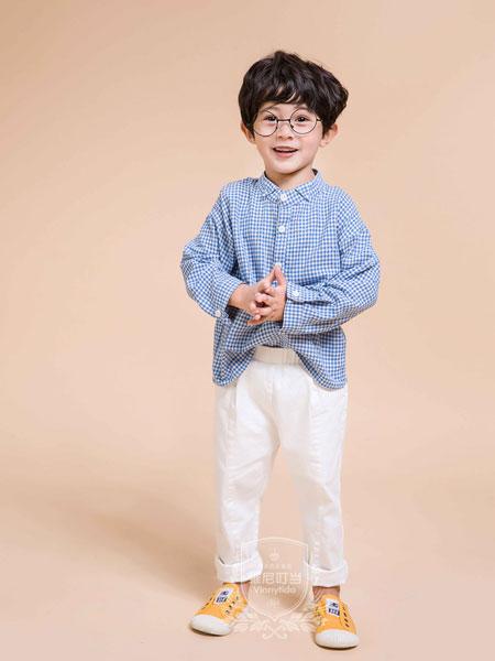 维尼叮当童装品牌2019秋季新款儿童韩版上衣格子衬衣潮