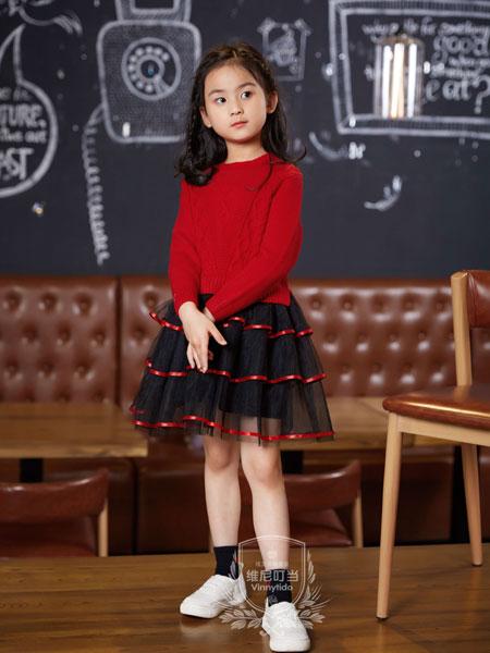 维尼叮当童装品牌2019秋季韩版女童毛衣韩版针织中大童长袖连衣裙