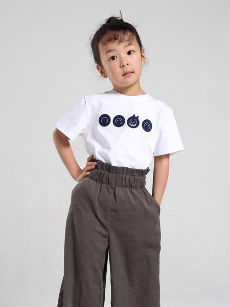 爪心爪背童装品牌2019春夏新款韩版休闲纯色纯棉趣味印花图案短袖T恤