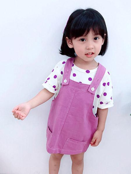 小小韩童品童装品牌2019春夏新款韩版波点洋气套装裙