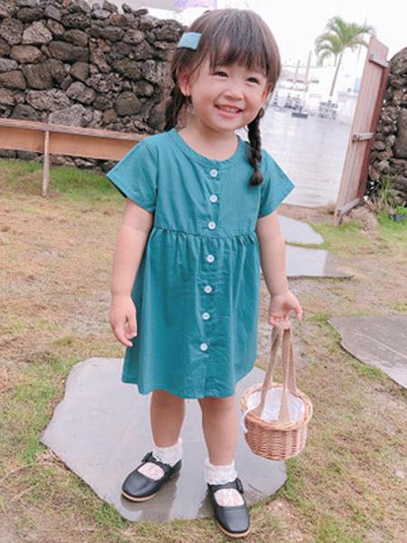 小小韩童品童装品牌2019春夏新款公主裙韩版洋气短袖连衣裙