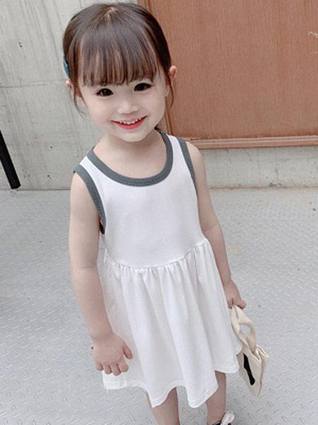 润途童装品牌2019春夏新款时尚可爱韩版背心裙