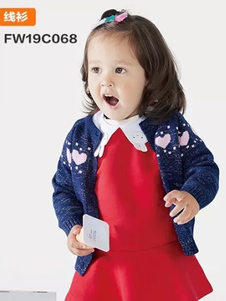 小兔与小狸F&R童装品牌2019秋季新款韩版洋气百搭针织开衫外套