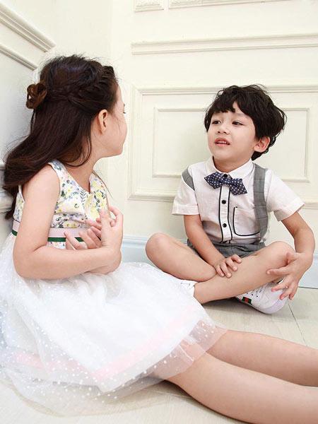 佐米熊童装品牌新款洋气圆领蓬蓬纱裙子
