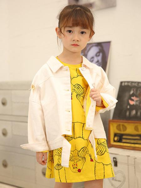 童赫童装品牌2019秋季新款潮流韩版夹克时尚纯色长袖短款外套