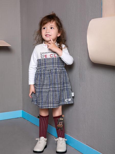迷你铅笔童装品牌2019秋季女童中大童长袖上衣套头衫 套装