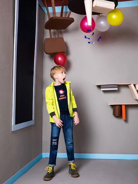 铅笔俱乐部童装品牌2019秋季运动冲锋衣中大童带帽两件套