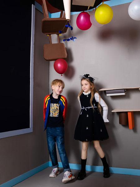 铅笔俱乐部童装品牌2019秋季舒适时尚百搭潮流个性拼接拼色字母经典夹克外套