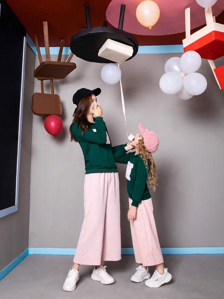 铅笔俱乐部童装品牌2019秋季新款时尚休闲宽松两件套