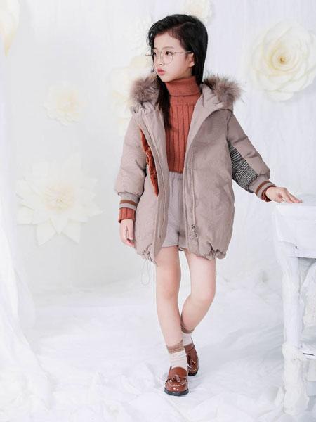 宠来宠趣童装品牌2019秋冬洋气棉袄中大童加厚中长款外套棉衣