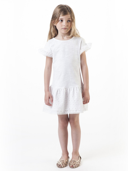 Carrément Beau童装品牌2019春夏新款圆领短袖连衣裙