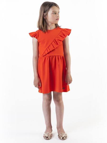 Carrément Beau童装品牌2019春夏新款时尚拼接纯色连衣裙