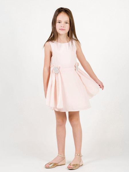 Carrément Beau童装品牌2019春夏新款洋气公主裙无袖连衣裙