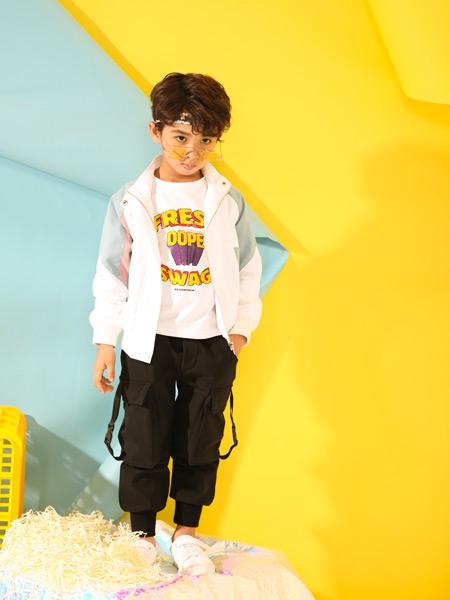 叽叽哇哇童装品牌2019秋季新款韩版宽松洋气外套