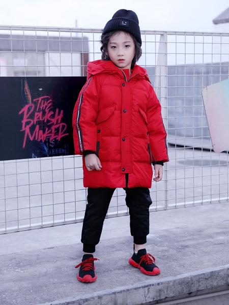 欧米源童装品牌2019秋冬韩版中大童加厚棉袄外套中长款洋气儿童棉服