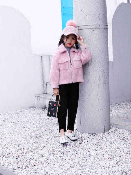 欧米源童装品牌2019秋冬新款韩版时尚显瘦百搭金貂绒短款外套