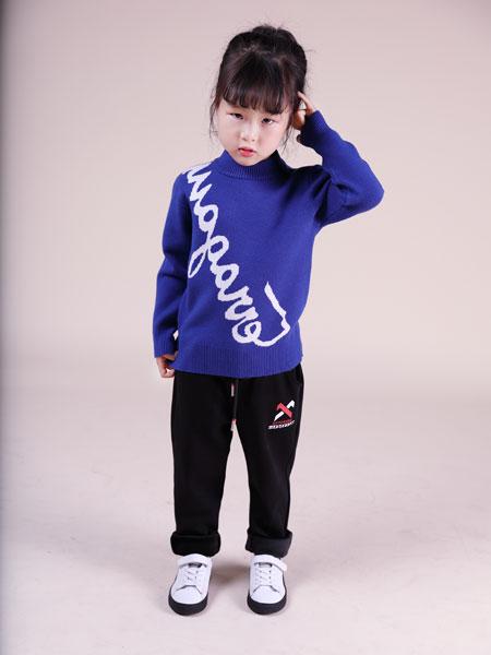 欧米源童装品牌2019秋冬韩版高领毛衣针织衫