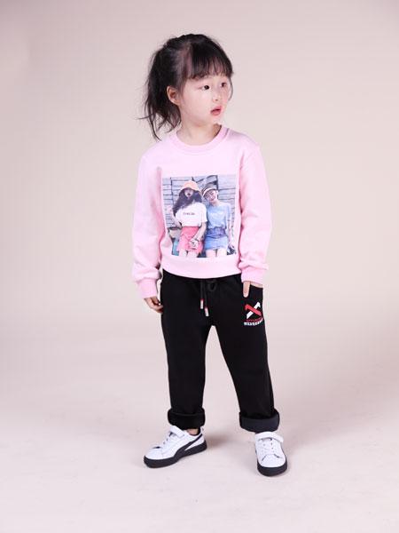欧米源童装品牌2019秋冬新款纯棉白色t恤百搭加厚保暖上衣