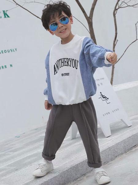 欧米源童装品牌2019秋冬韩版纯色时尚百搭小脚裤