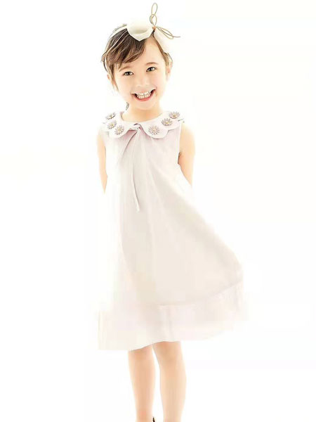 BELLGO KIDS贝力高童装品牌2019春夏儿童刺绣裙子洋气公主裙