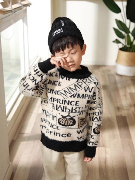西瓜王子童装品牌2019秋季新款字母时尚潮流针织衫套头毛衣