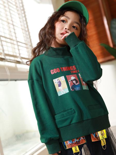 西瓜王子童装品牌2019秋季新款韩版宽松甜美圆领印花打底衫长袖上衣