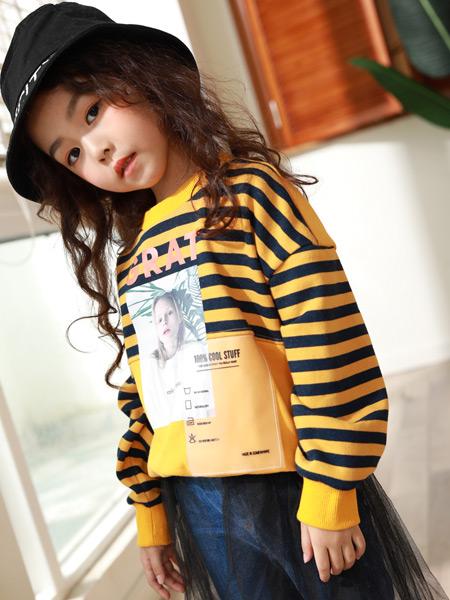 西瓜王子童装品牌2019秋季新款韩版洋气休闲宽松卫衣