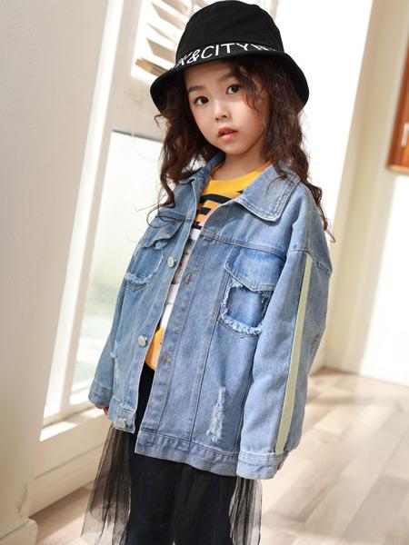 西瓜王子童装品牌2019秋季新款韩版印花休闲百搭牛仔外套