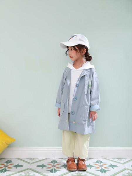 西瓜王子童装品牌2019秋季新款韩版小清新中长款修身外套
