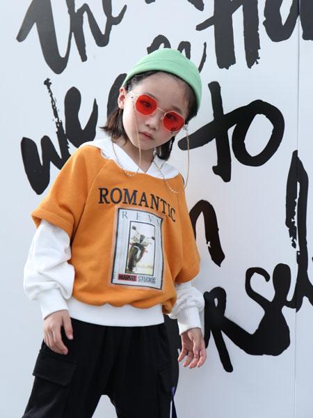 拉斐贝贝童装品牌2019秋季印花纯棉连帽时尚休闲连帽卫衣