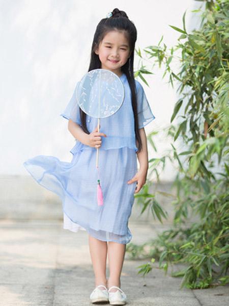 桐花坞童装品牌2019春夏新款中国风改良汉服襦裙古风裙子超仙