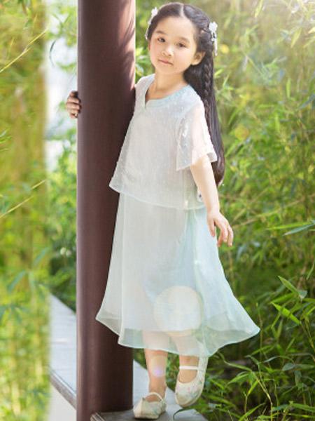 桐花坞童装品牌2019春夏新款中国风古风襦裙小女孩中式连衣裙