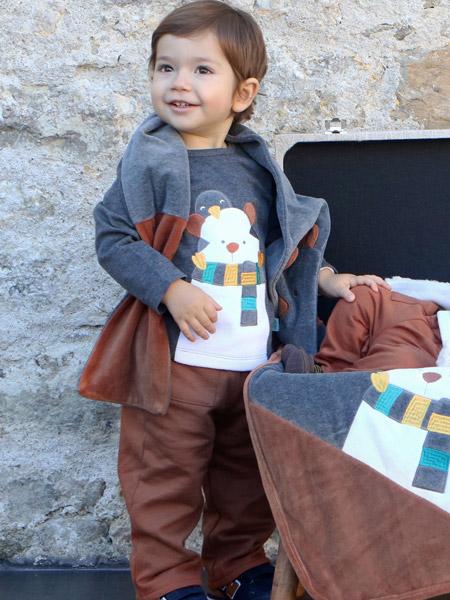 FS Baby童装品牌2019秋季新款洋气韩版帅气休闲薄款纯棉两件套套装