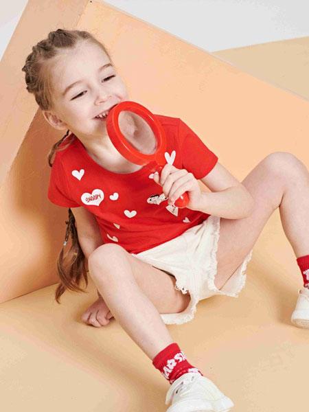 童e时代品牌童装品牌2019春夏男童装卡通大图可爱短袖T恤儿童圆领短T