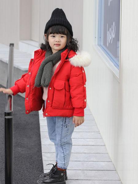 TT&OO童装品牌2019秋冬羽绒服中小童韩版时尚大毛领男女童款