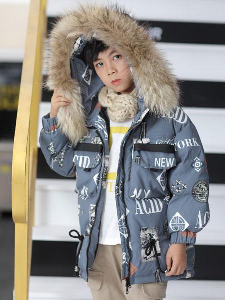 TT&OO童装品牌2019秋冬儿童羽绒服男童时尚帅气中大童加厚保暖中长款