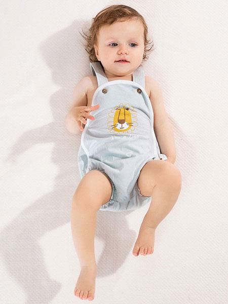 麦拉贝拉童装品牌2019秋冬婴儿背带裤薄款五分裤