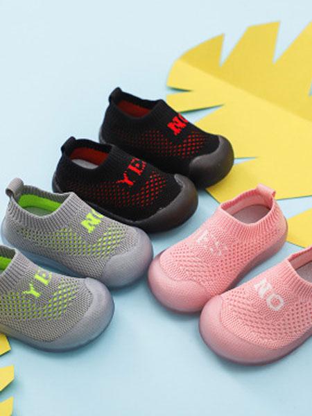 纽伊莱童装品牌2019秋冬宝宝学步鞋软底儿童袜子鞋新款网面透气鞋