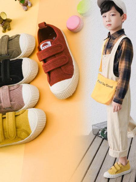尚雅格童鞋品牌2019秋季软底儿童饼干鞋灯芯绒休闲运动鞋