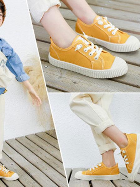 尚雅格童鞋品牌2019秋季韩版软萌饼干鞋儿童帆布鞋松紧带一脚蹬