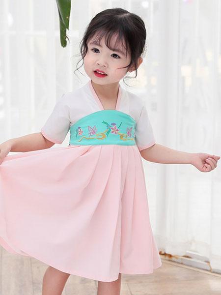 熊妈熊孩子童装品牌2019秋季袍中国风连衣裙宝宝洋气汉服套装夏装复古襦裙