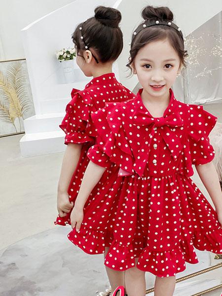 熊妈熊孩子童装品牌2019秋季韩版洋气中大儿童小女孩公主时尚裙子