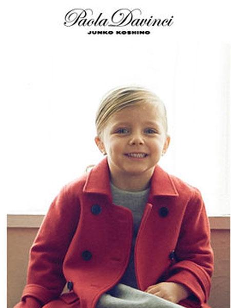 Paola Davinci童装品牌秋冬中长款女童毛呢外套秋冬季女孩呢大衣宝宝上衣