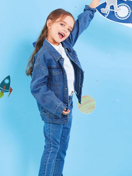 欧布豆童装品牌2019秋冬女童牛仔外套休闲儿童牛仔外套中小童上衣潮