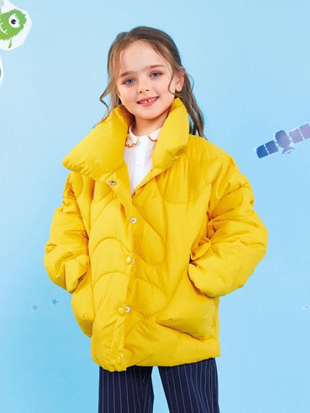 欧布豆童装品牌2019秋冬带帽亮面短款面包服保暖棉衣外套上衣多色