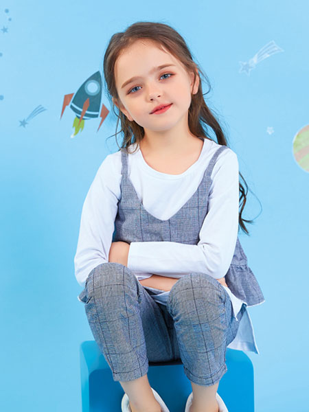 欧布豆龙8品牌2019秋冬西装套装新款韩版儿童洋气