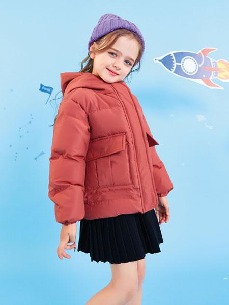 欧布豆童装品牌2019秋冬新品韩国连帽女棉冬季加厚