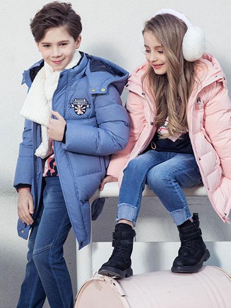 暇步士童装品牌2019秋冬新款中大童宝宝加厚外套潮