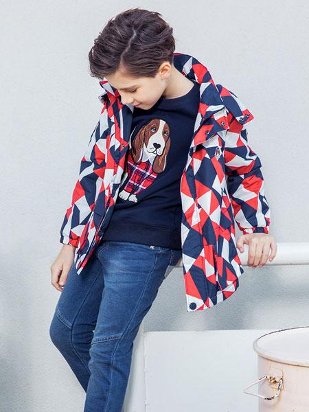 暇步士童装品牌2019秋冬外套儿童韩版夹克两面穿大童男孩洋气