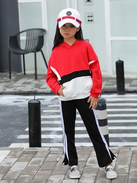 班吉鹿banjilu童装品牌2019秋冬中大童时髦洋气运动两件套韩版春秋女